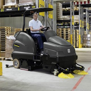 Karcher B100/250RI Combi Scrubber & Sweeper - Ride-on